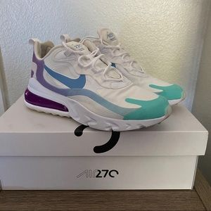 Nike Air Max 270 React Purple and Blue color way
